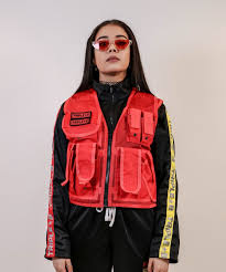 new women coats triple b womens utility vest red