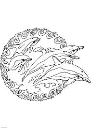 Dessins De Coloriage Dauphin Mandala A Imprimer L
