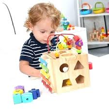 kids toddler baby colorful wooden around beads toy box wire maze learning shape clock xylophone educational chest bookshelf