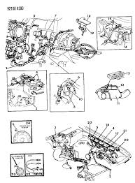 1992 chrysler town country wiring engine front end related parts diagram
