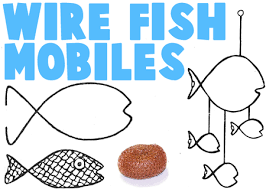 Making Wire Hanger Fish Mobiles and other wire crafts
