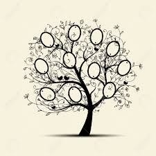 Tree Design Family Tree Design Insert Your Photos Into Frames Royalty Free
