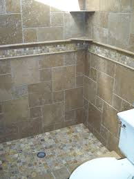 tumbled travertine tile shower. Delighful Shower Autumn Leaves 2x2 Travertine Mosaic Tiles And Noce Tumbled On  Walls Intended Tumbled Travertine Tile Shower Pinterest