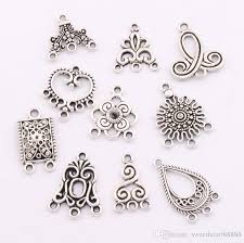 80pcs lot charms pendants earrings connectors 10styles tibetan silver connector for jewelry craft diy lm1 jewelry findings components