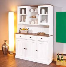 Inter Link Fsc Buffet Vitrine Kiefer Massivholz Weiß Sepia Braun Landhausstil 5 Türen 3 Schubladen Esszimmer Küche