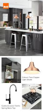 Did you know brass is the new copper? This contemporary Raffello High Gloss  Anthracite kitchen