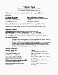 Sample Accounting Resume Objective Entry Level Accounting Resume Example Elegant Entry Level