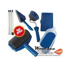 womdee paint roller brush paint runner pro roller brush handle tool flocked edger room
