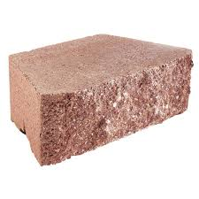 rockwall small 4 in h x 11 75 in w x 6 75 in d red concrete retaining wall block