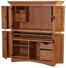 image of elegant solid wood computer armoire design armoire office