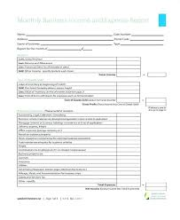 Monthly Business Expenses Sample Expense Report Monthly Business Expense Report Template