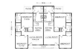 Small Picture Simple Small House Floor Plans duplex plan J891d floor plan