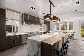 Gourmet Kitchen With Arched Ceiling