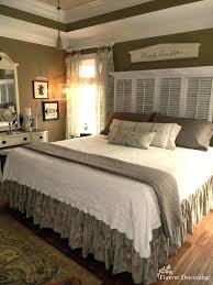 no headboard wall ideas cost decorating master bedroom love the shutter and for