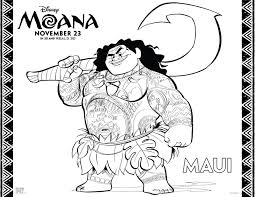 Moana Printable Coloring Activity Pages