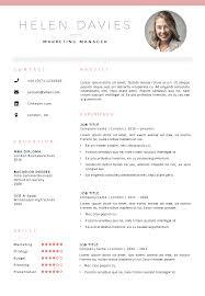 Editable Resume Template Mesmerizing CV Template London Go Sumo CV Templates Resume Curriculum