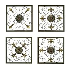 on 4 piece metal wall decor with 4 piece metal wall plaque d cor set reviews joss main