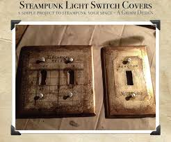 Steampunk Switch Plate Cover DIY by aGrimmDesign ...