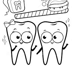 convenient teeth coloring pages for kids dental within