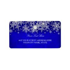 silver address label silver snowflake shipping address return address labels zazzle