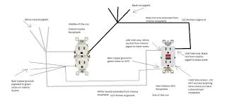 gfci out ground wire diagram wiring library gfci wiring diagram best of gfci wiring diagram feed through method and to branch circuit