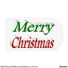 Get your christmas designs off to a great start with our library of over 200 free holiday fonts, backgrounds, clip art, images, borders and so much more. Red Green 3d Merry Christmas Gift Tags Zazzle Com In 2020 Merry Christmas Gift Tags Svg Postcard Christmas Cards