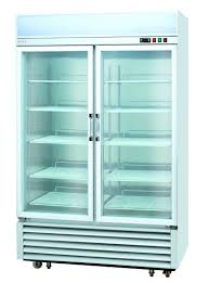china commercial two glass door upright