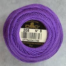 Dmc Pearl Cotton 8 Color Chart Dmc Pearl Perle Cotton Balls 100 Cotton 10g 80m 87yards Colour 208 Very Dark Lavender