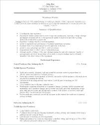 Sample Resume Production Worker Water Operator Resume Machine ...
