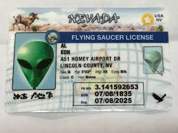 R Fly Flying Nevada License N Us Online Aliens Driver – Alien Area52 Saucer