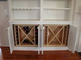 Built-In cabinet wine rack inserts