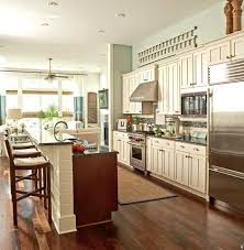 One Wall Kitchen Designs With An Island Interior Awesome Inspiration