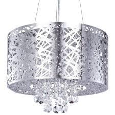 Drum Pendant Lighting Uk Pendant Ceiling Light Ashley Dual Mount Chrome Drum With 6 Bulbs