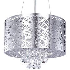 6 light drum pendant ceiling light dual mount chrome fast free delivery