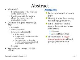 define abstract in a research paper examples of research abstracts uw madison writing center