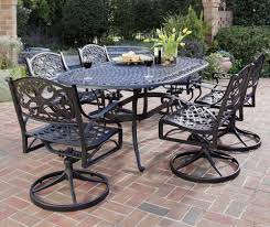 metal outdoor dining chairs. Amazon.com: Home Styles 5554-335 Biscayne 7-Piece Outdoor Dining Set, Black Finish: Garden \u0026 Metal Chairs S