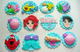 Ariel Cake Decorations Fondant Mermaid Etsy