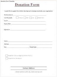 It Donation Pledge Form Template Fundraising On Sheet Word Templates