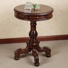 awesome pedestal accent table with tables touch of class designs 14