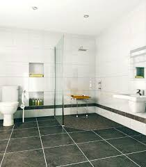 barrier free shower using tuff form base and