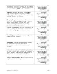 Job Evaluation Template Work Performance Evaluation Template Staff Review Employee Appraisal ...