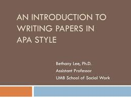 Apa Format Introduction Ppt An Introduction To Writing Papers In Apa Style