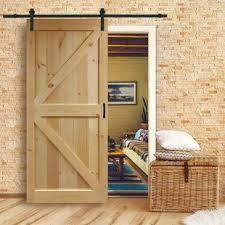 solid wood flush interior barn door