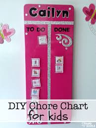 Daily Chore Chart Ideas Diy Chore Chart Idea For Kids Cleverly Simple