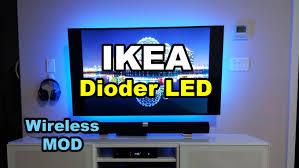ikea dioder wireless hack mod led strip lights backlight tv monitor you