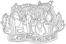Small Picture Pentecost Coloring Page Poster Illustrated Childrens Ministry