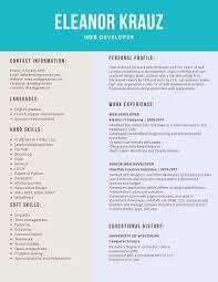 Web Developer Resume Samples Templates Pdfword 2019 Web