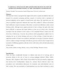 Example Of Literature Essays Review Essay Examples Dew Drops