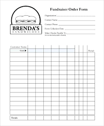 Fundraising Forms Templates Order Form Templates Doc Excel