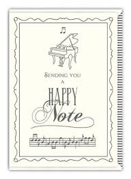 Musical Note Cards And Musical Thank You Cards Musical
